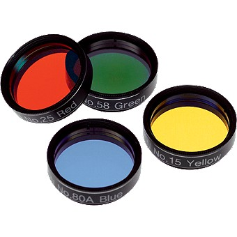 Orion Basic Set of Four Color Filters, 1.25