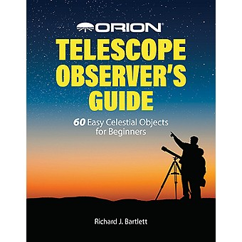 Journey to the stars from your own backyard with your telescope and the Orion Telescope Observer's Guide! Author Richard J. Bartlett leads you on a detailed tour of the night sky as he describes over 60 fascinating astronomical objects that can easily be seen with a small telescope. This book will guide you to amazing cosmic phenomena including planetary, emission and reflection nebulas; double and multiple stars; open and globular star clusters, the Andromeda Galaxy, and more. With a full page of information dedicated to each interesting object, the Orion Telescope Observer's Guide will not only help you find and observe these objects, but it also describes what you're seeing so you can appreciate your stargazing experiences to the fullest