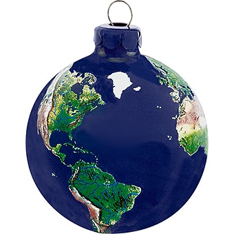 Earth Globe Christmas Tree Ornament
