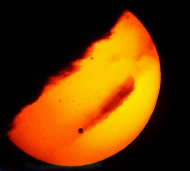 Venus Transit with Clouds