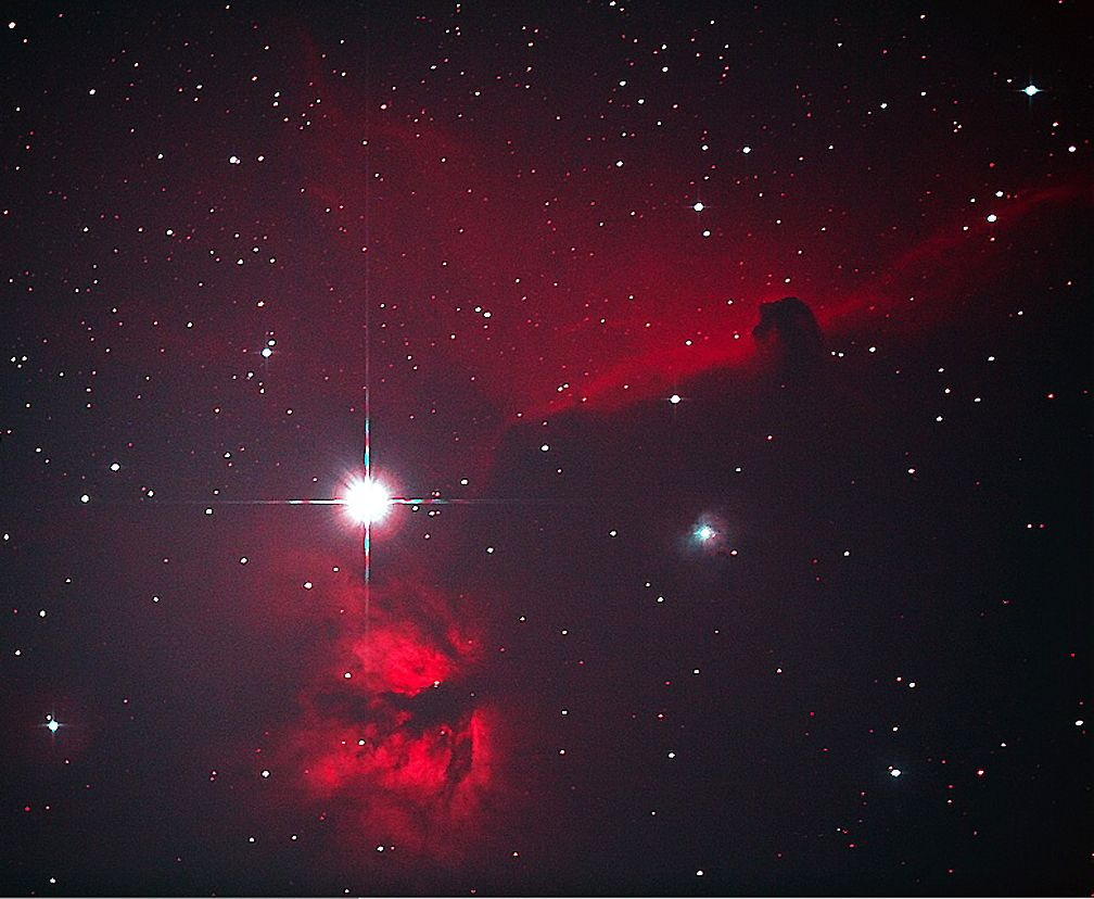Horsehead and Flame Nebula Alnitak in Orion's Belt