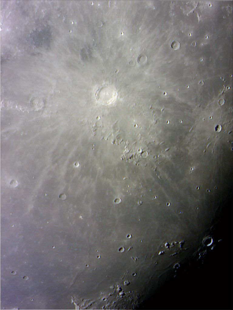 Lunar crater Copernicus and surrounding area