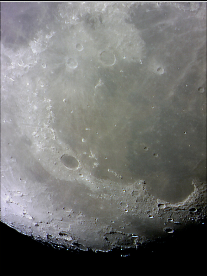 Lunar crater Plato and surrounding area
