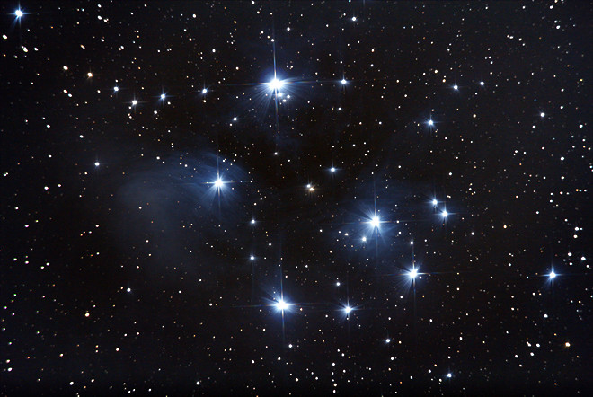 Blue Silk in the Sky - The Pleiades (M45)