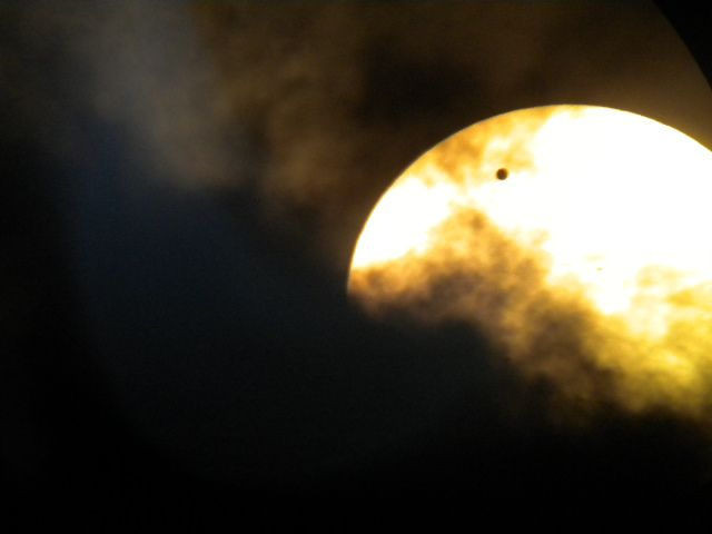 Venus Transit with Cloud