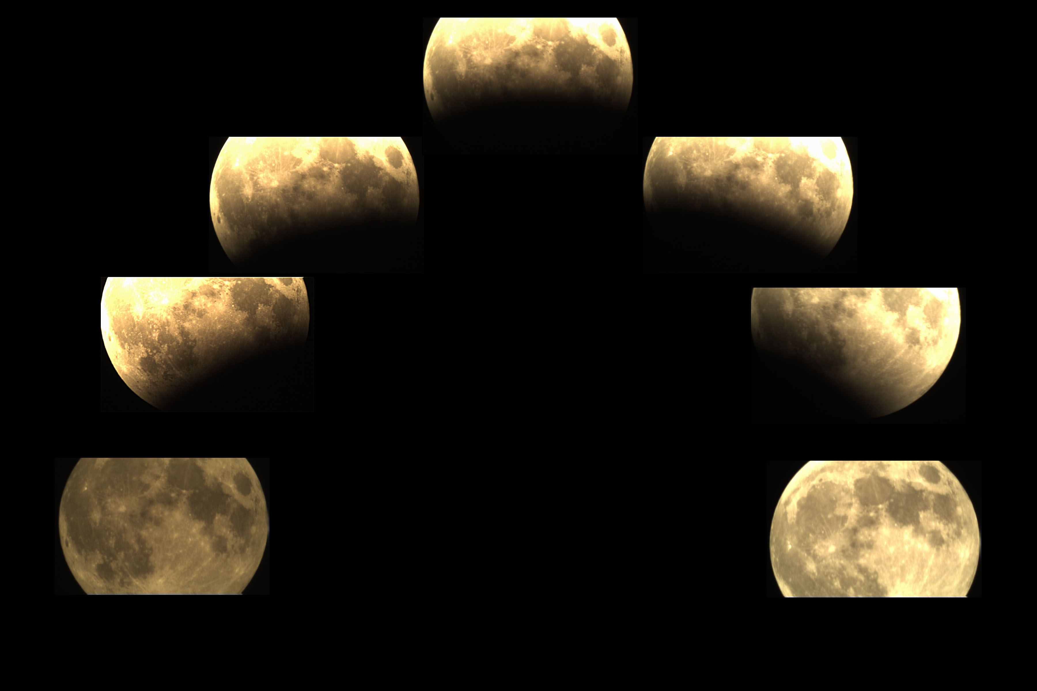 June 4th, 2012 Partial Lunar Eclipse Collage at Orion Store