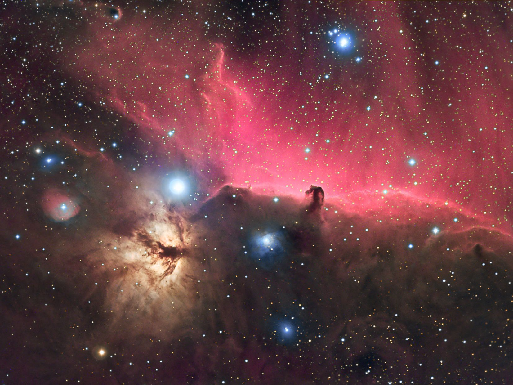 Flame & Horsehead nebula | Astronomy Images at Orion ...