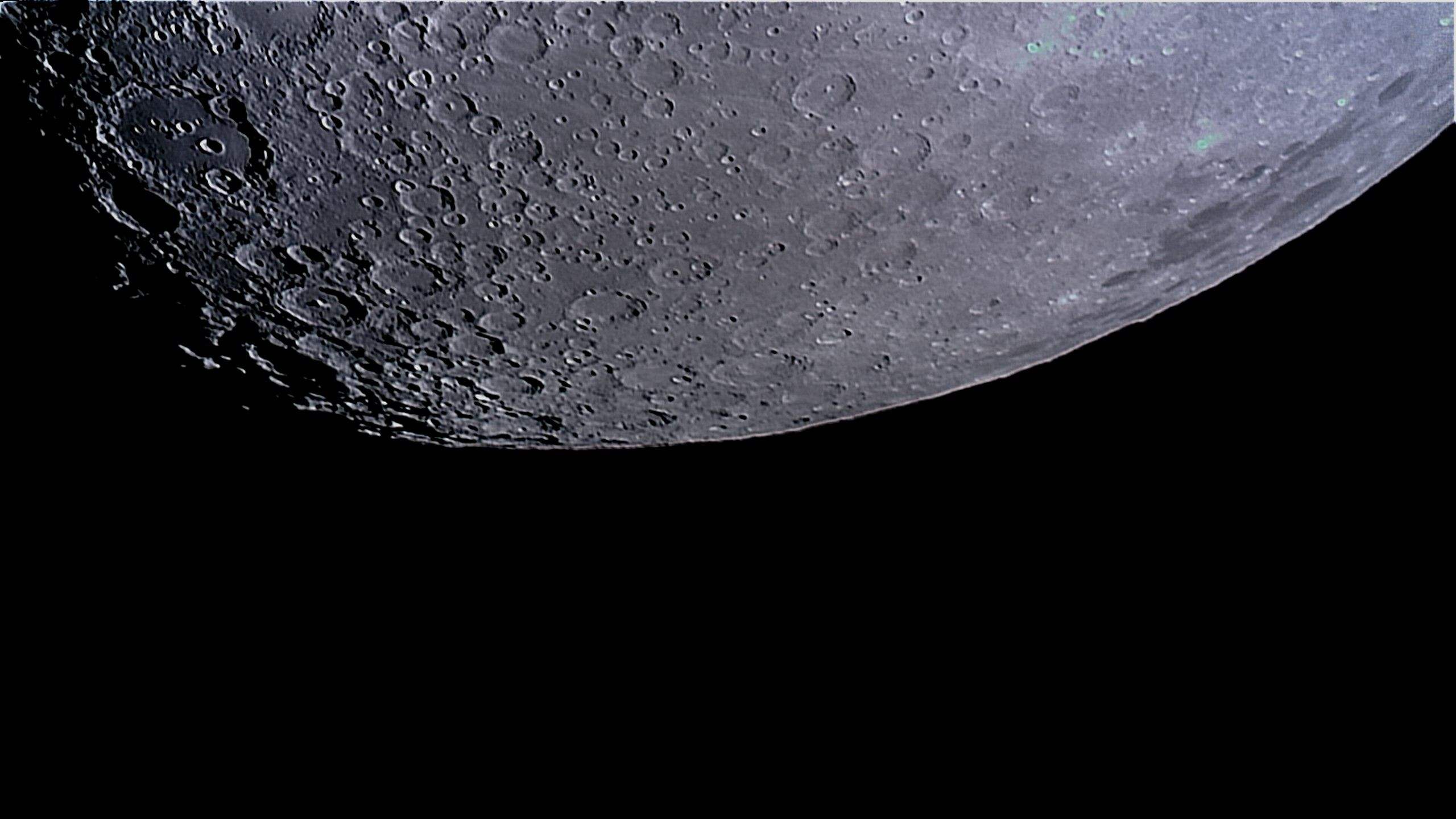 Southern Lunar Landscape, Covered With Imact Craters