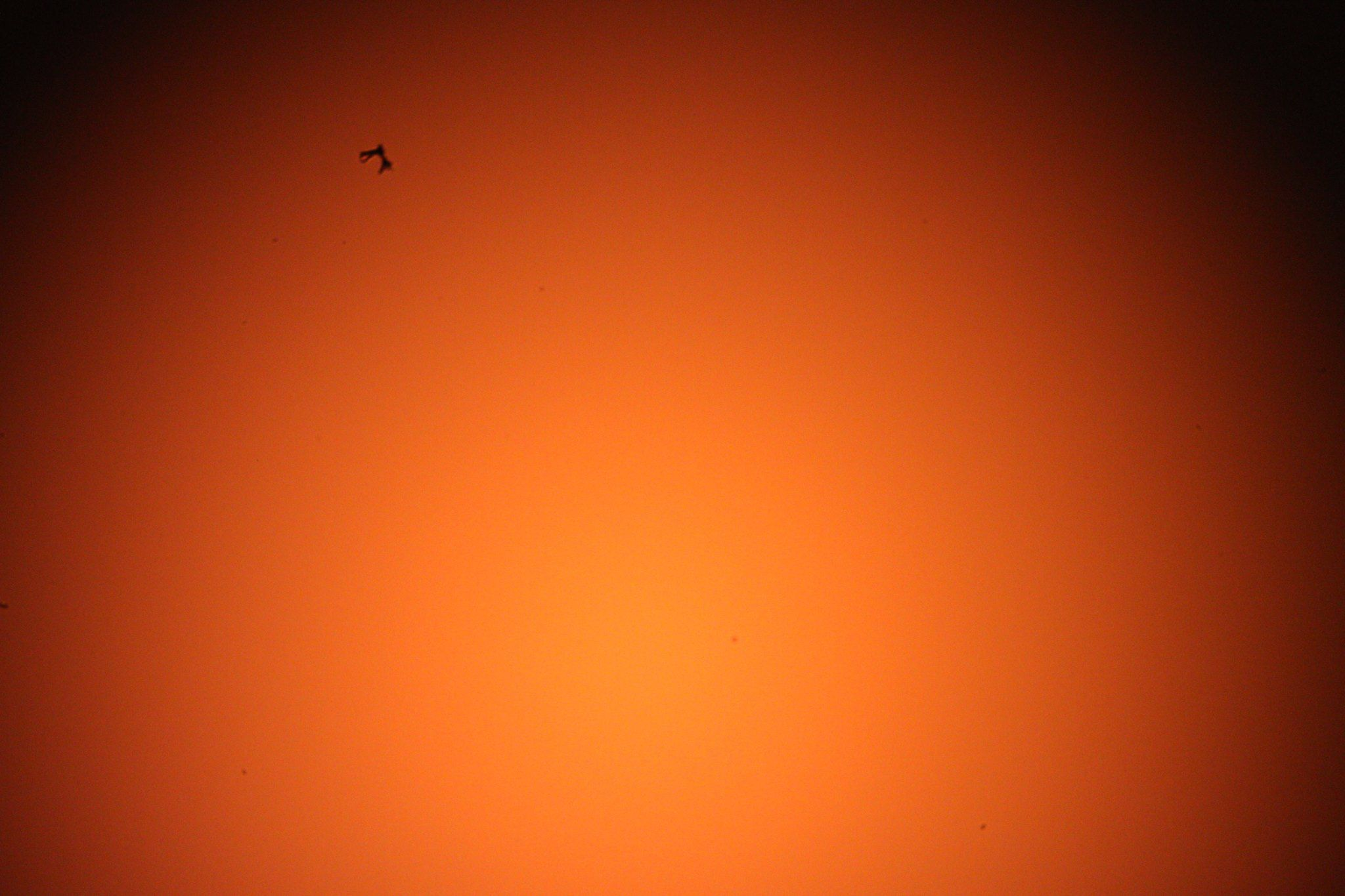 ISS passing in front of the sun at US Store