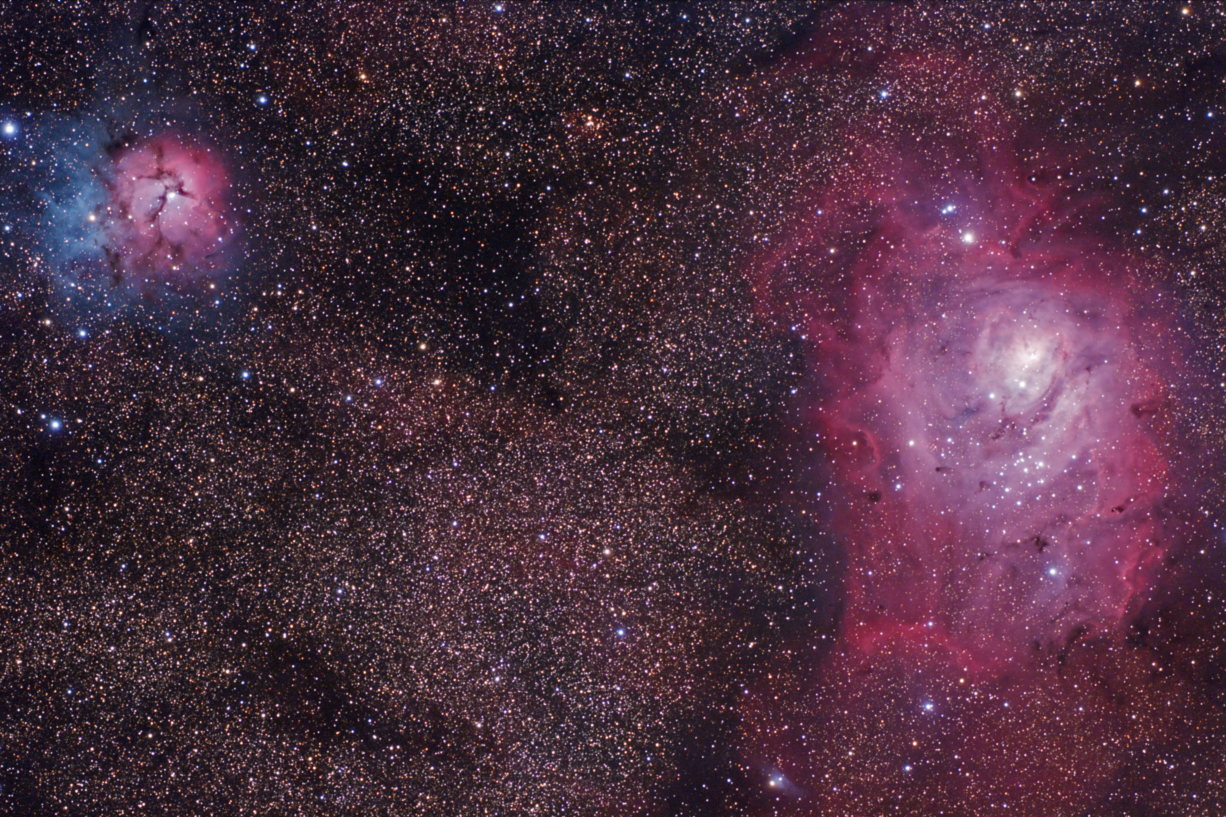 Lagoon and Trifid Nebulas 4-12-12 at US Store