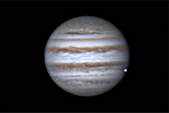 Jupiter and Europa Conjunction 11-6-13 at US Store