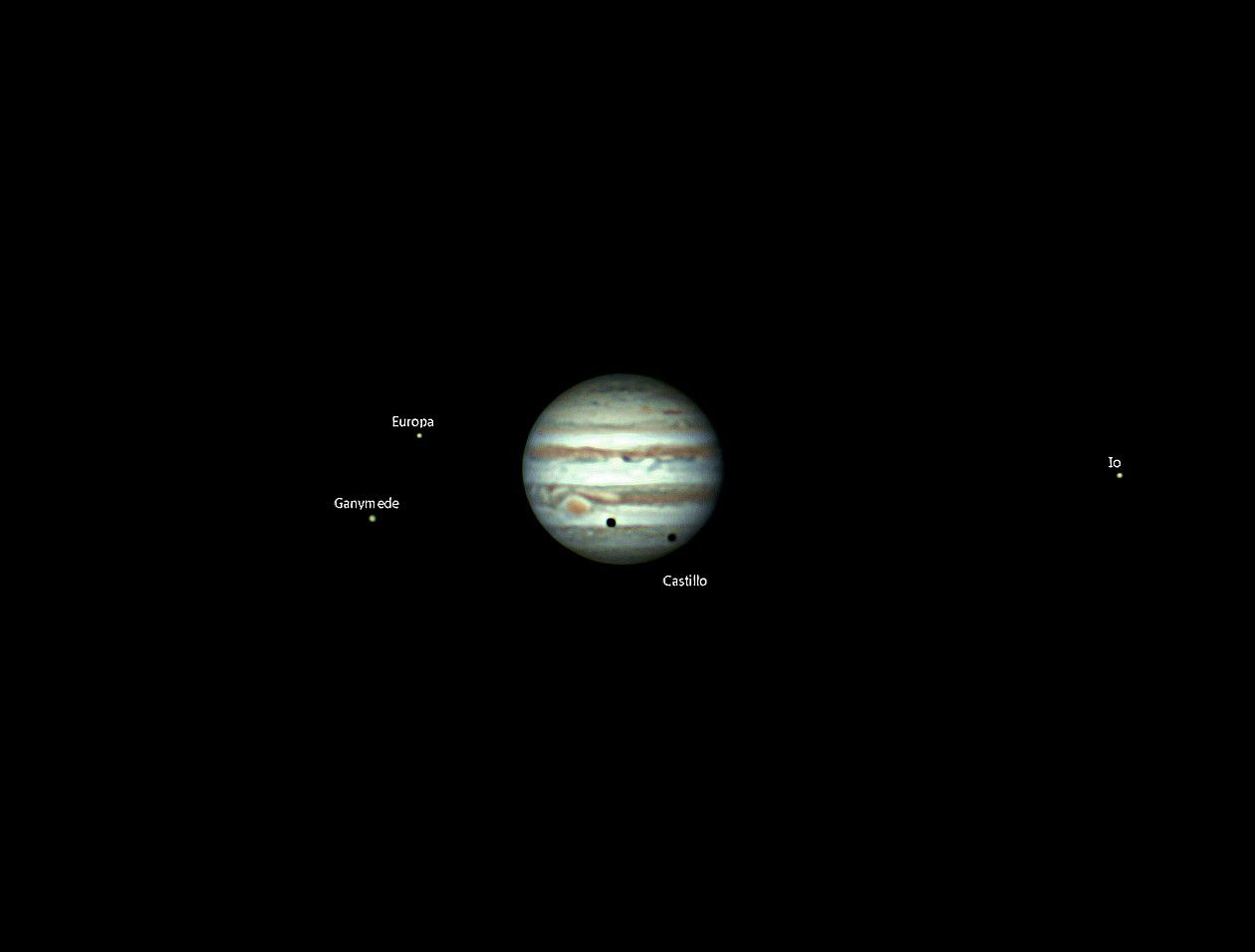 moons and jupiter in telescope - photo #31