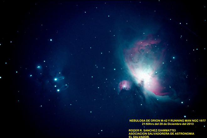 Orion Nebula M42 and Running Man NGC1977 at US Store