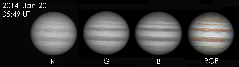 Jupiter using RGB Filters at US Store