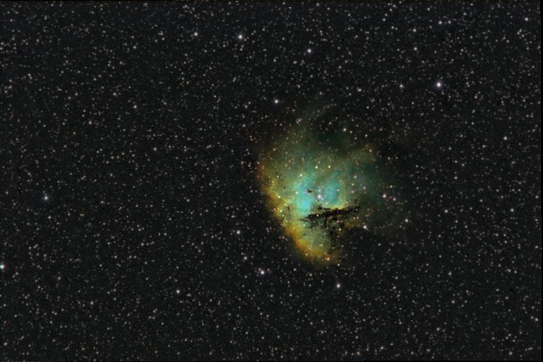 NGC 281 - Pacman Nebula (wide field in narrowband)