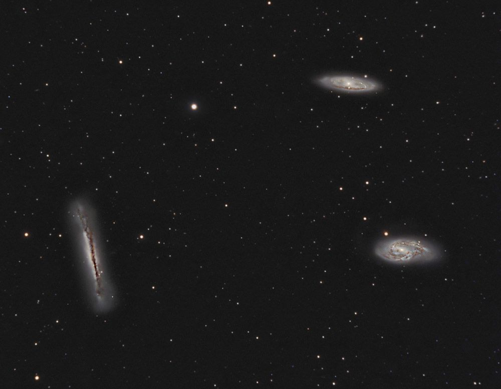 M65, M66, NGC 3628 - The Leo Triplet