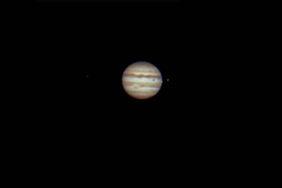 Jupiter, GRS, and Moons
