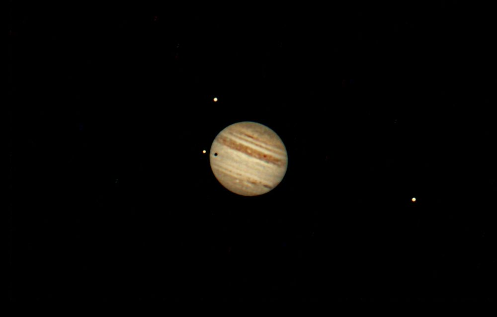 Jupiter and Moons Io, Callisto, and Ganymede