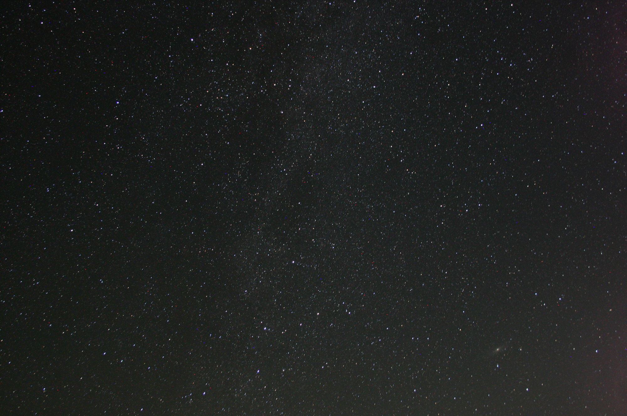 Northern Milky Way with M31 in the corner