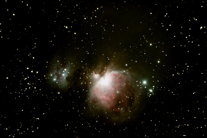 Orion's Sword: NGC 1977, M43, M42, NGC 1980
