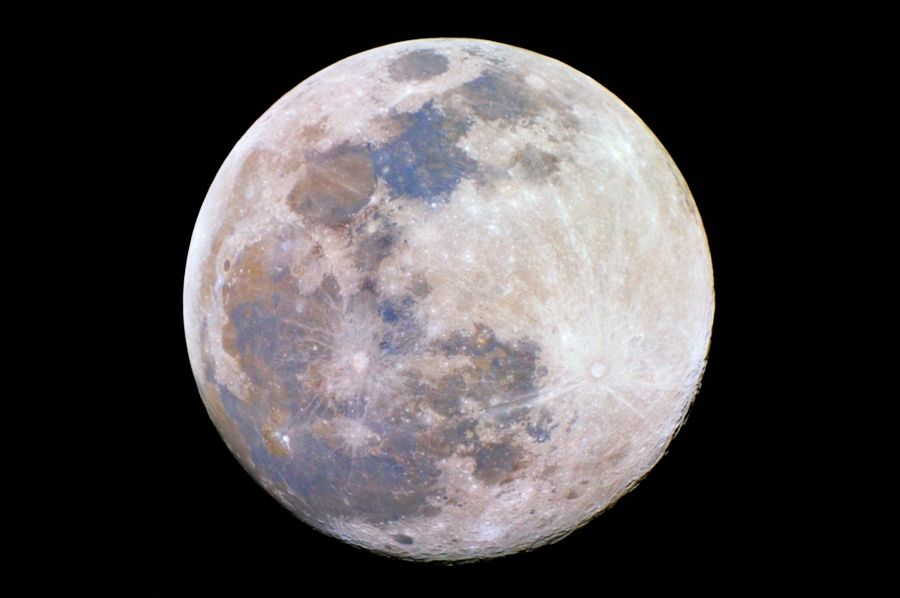 Color Enhanced Full Harvest Moon