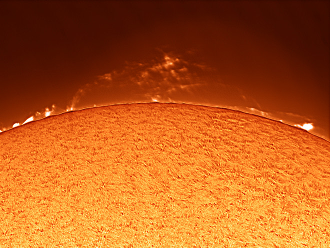 Solar Prominences 13 and 14