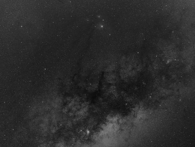 Central Milky Way Bulge (B&W)