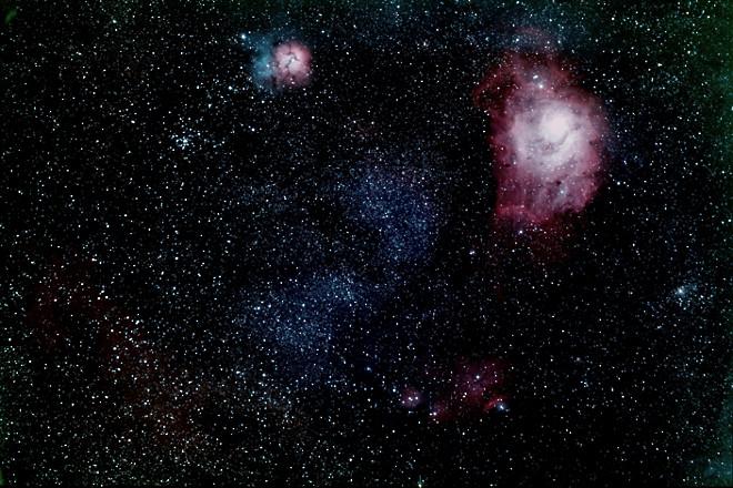 M-8, 20, 21  NGC-6523, 6544, 6546, 6559 and IC- 4684, 1274