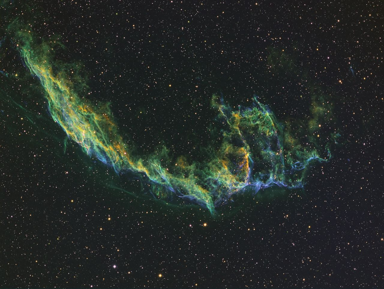 NGC 6992 - The Eastern Veil in HST