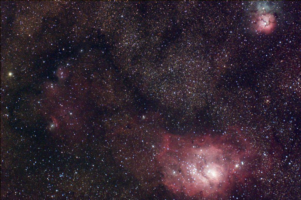 M8 and M20 - Lagoon and Trifid Nebulas