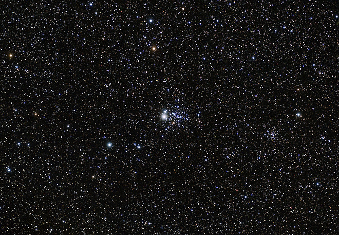 NGC457 - An open cluster in Cassiopeia