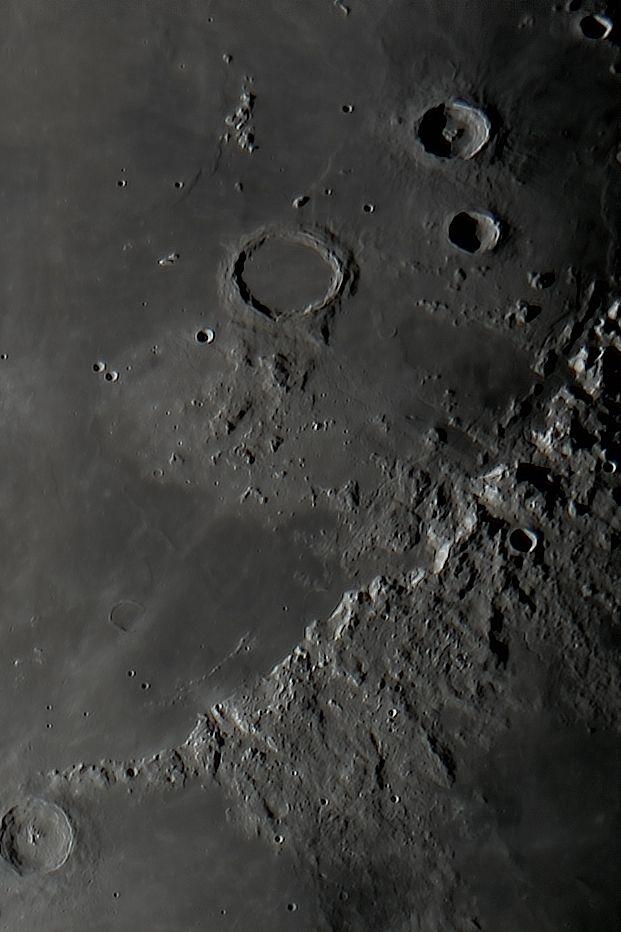 Lunar photo, Eratostenes, Apennine Mtns, Archimedes & Mtns