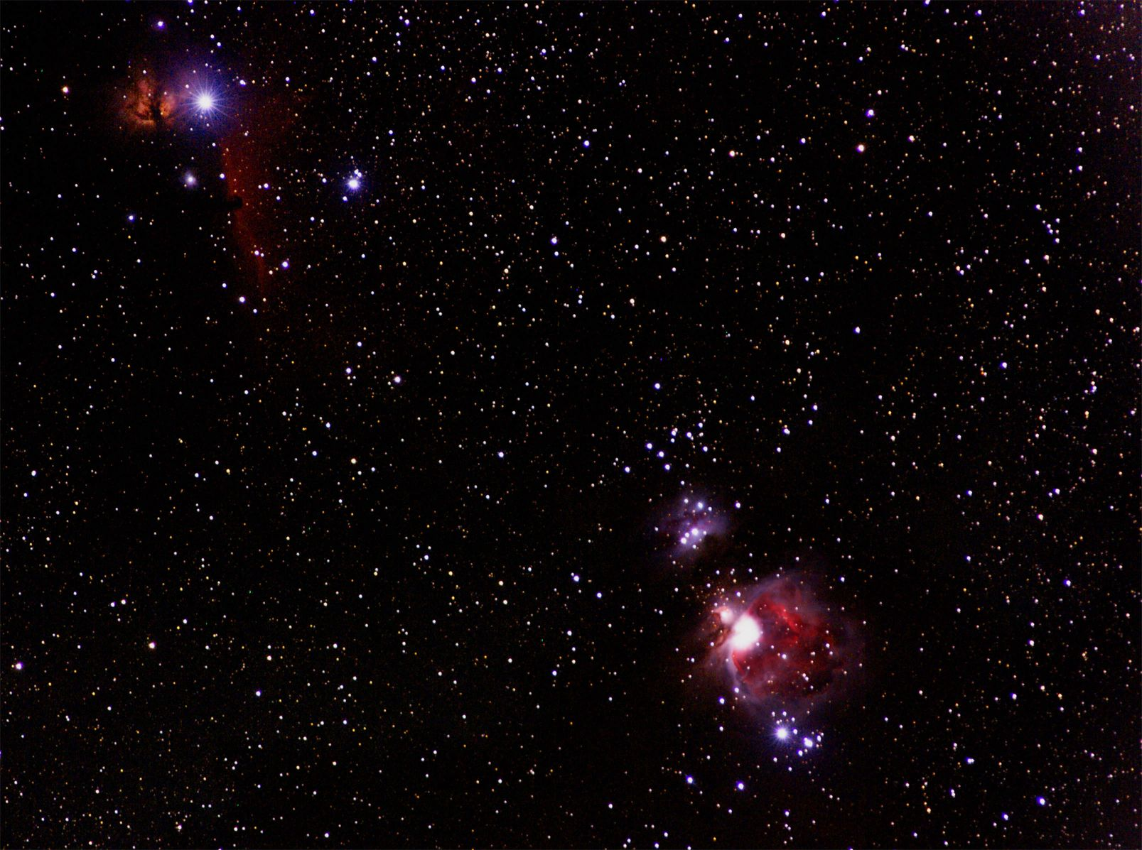 Great Orion Nebula, Horsehead Nebula, Flame Nebula