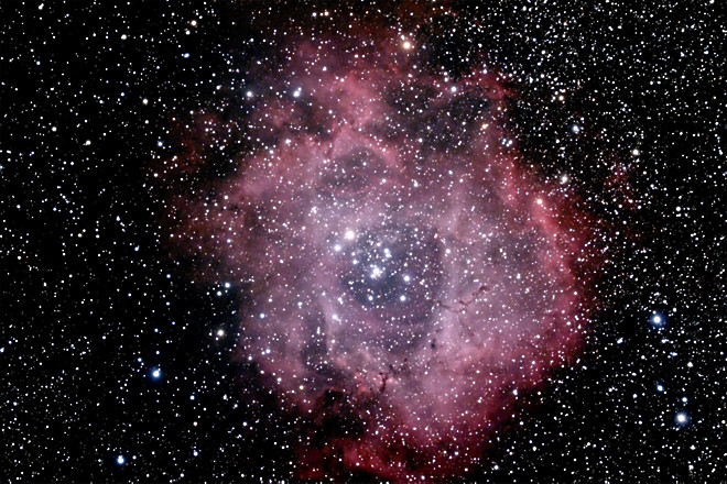 NGC 2237, 2238, 2239 and 2246 - The Rosette Nebula