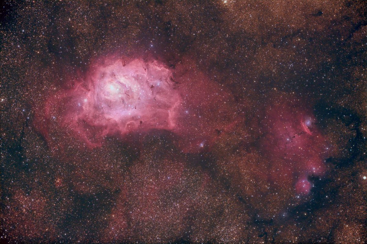 M8 and NGC 6559 - Lagoon Nebula