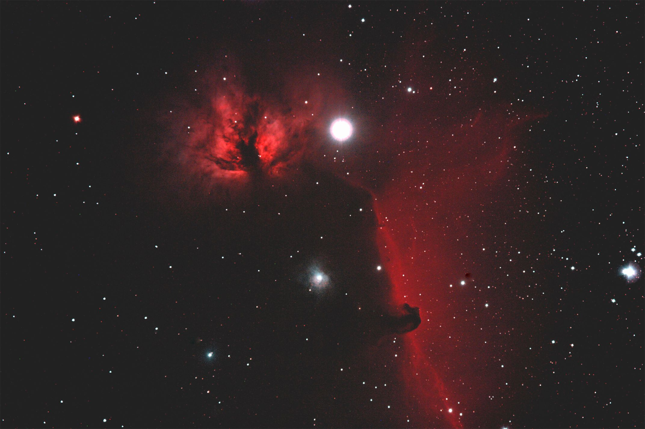 NGC 2024 and IC 434 - Flame and Horsehead Nebula