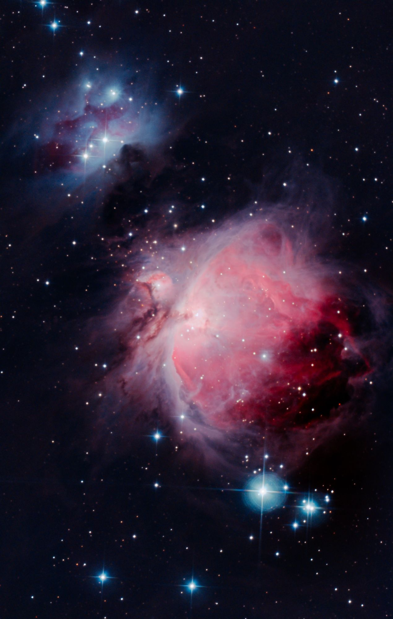 M42 & NGC 1977 - Orion and Running Man Nebulas