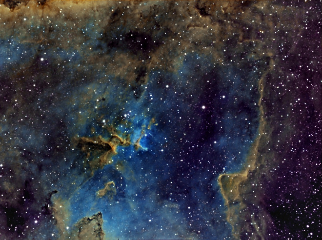 IC1805 - Center of Heart Nebula