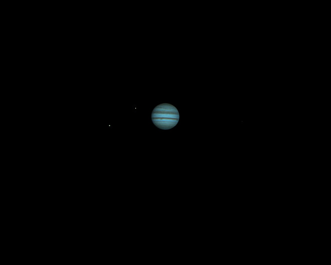 Jupiter and Two Moons