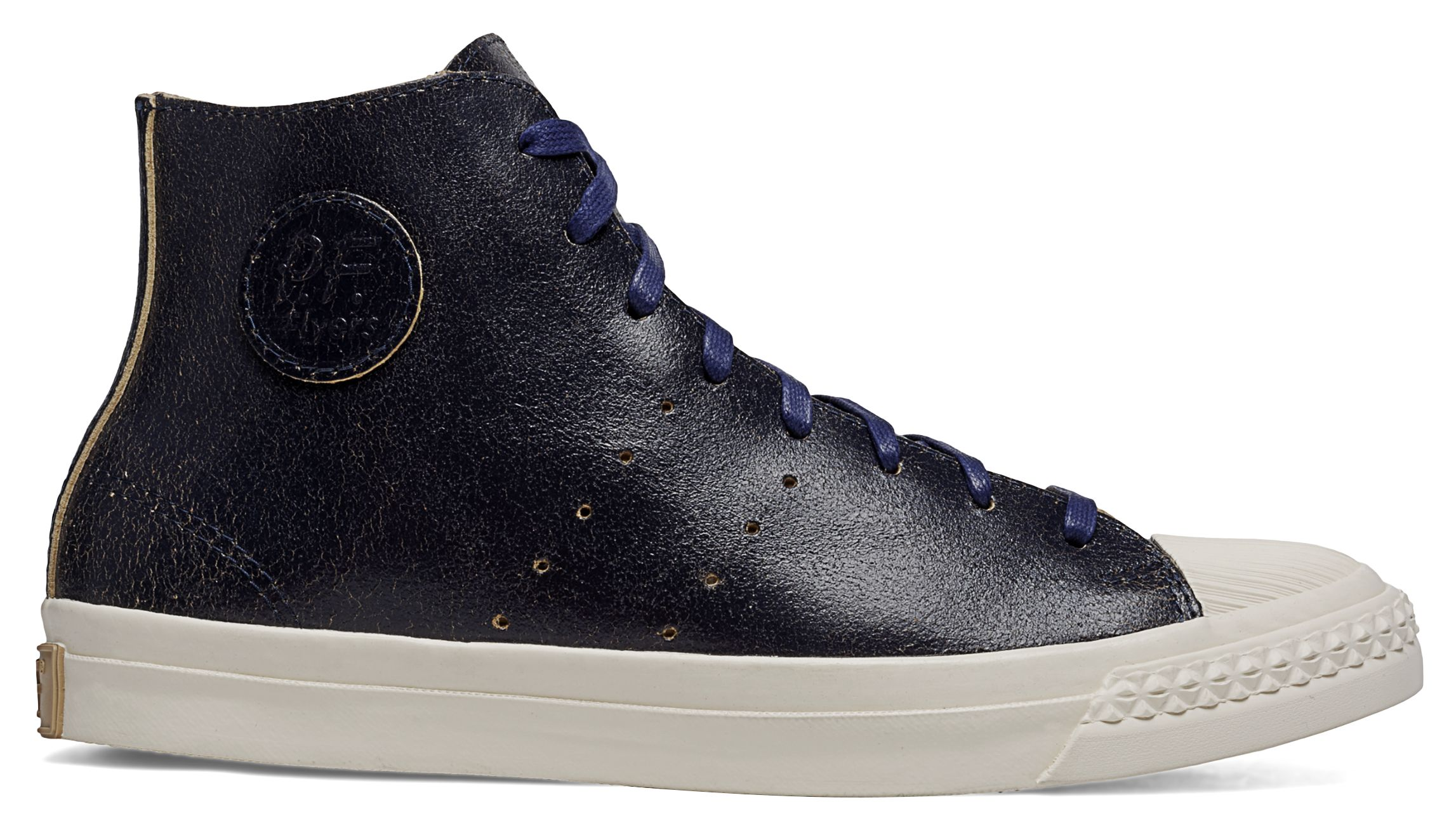 Deconstructed Leather Rambler Hi Top Shoes