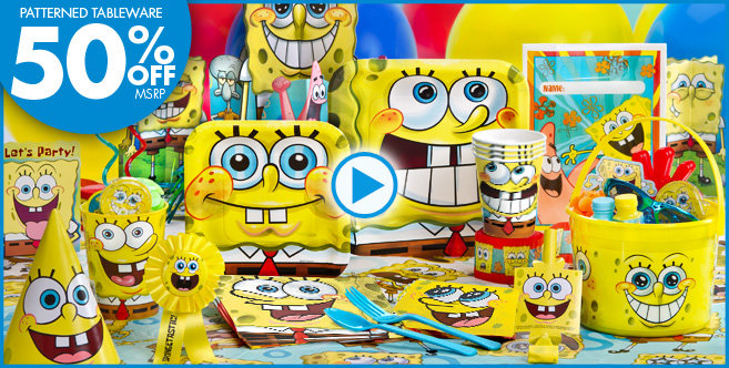 spongebob party supplies head straight to bikini bottom with spongebob