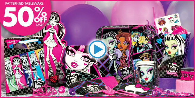 Monster High Party Supplies Your Party Will Have Killer Style