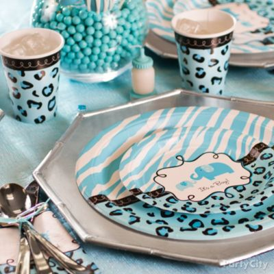 Blue Safari Baby Shower Ideas - Party City