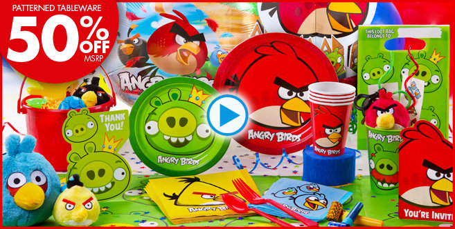 Angry birds birthday party gymbofriends for Angry birds party decoration ideas