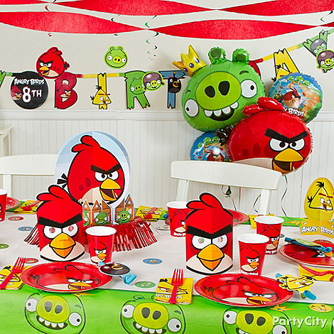 Angry birds party ideas guide party city for Angry birds birthday party decoration ideas