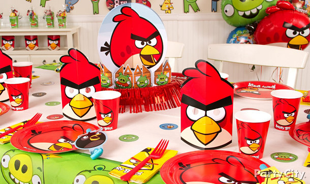 Angry birds party ideas guide party city for Angry birds party decoration ideas