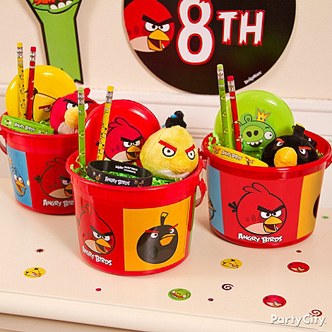 Pink angry bird party supplies images for Angry birds party decoration ideas