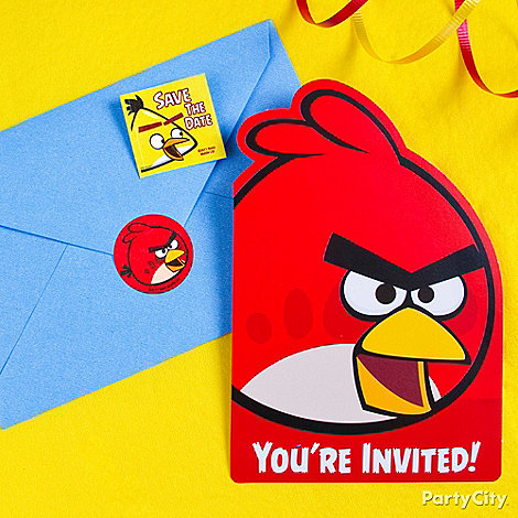 Angry Birds Party Ideas: Invitations