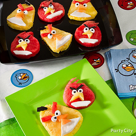 Angry Birds Party Ideas: Food