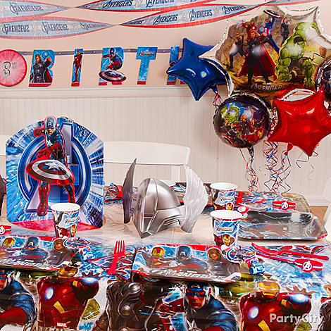 Home Party Ideas on Deck Out Your Home With Avengers Decorations To Take The